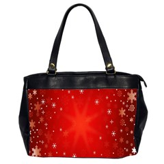 Red Holiday Background Red Abstract With Star Office Handbags (2 Sides)