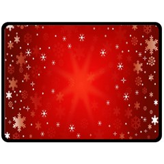 Red Holiday Background Red Abstract With Star Fleece Blanket (Large)