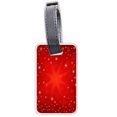Red Holiday Background Red Abstract With Star Luggage Tags (one Side)