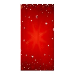 Red Holiday Background Red Abstract With Star Shower Curtain 36  X 72  (stall)