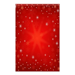 Red Holiday Background Red Abstract With Star Shower Curtain 48  X 72  (small)