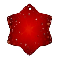 Red Holiday Background Red Abstract With Star Ornament (Snowflake)
