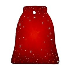 Red Holiday Background Red Abstract With Star Bell Ornament (Two Sides)