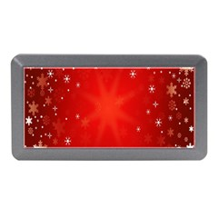 Red Holiday Background Red Abstract With Star Memory Card Reader (Mini)