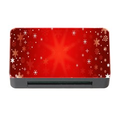 Red Holiday Background Red Abstract With Star Memory Card Reader With Cf