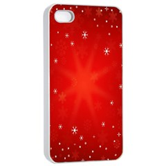 Red Holiday Background Red Abstract With Star Apple iPhone 4/4s Seamless Case (White)