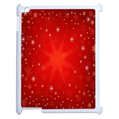 Red Holiday Background Red Abstract With Star Apple iPad 2 Case (White)