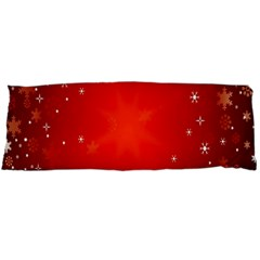 Red Holiday Background Red Abstract With Star Body Pillow Case Dakimakura (two Sides)