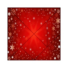 Red Holiday Background Red Abstract With Star Acrylic Tangram Puzzle (6  X 6 )