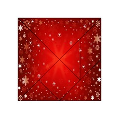 Red Holiday Background Red Abstract With Star Acrylic Tangram Puzzle (4  X 4 )