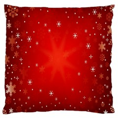Red Holiday Background Red Abstract With Star Large Cushion Case (two Sides)