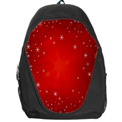 Red Holiday Background Red Abstract With Star Backpack Bag
