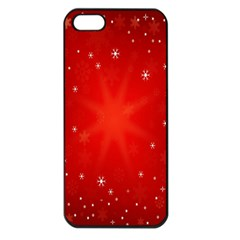 Red Holiday Background Red Abstract With Star Apple Iphone 5 Seamless Case (black)