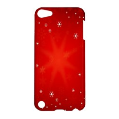 Red Holiday Background Red Abstract With Star Apple Ipod Touch 5 Hardshell Case
