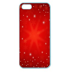 Red Holiday Background Red Abstract With Star Apple Seamless Iphone 5 Case (color)