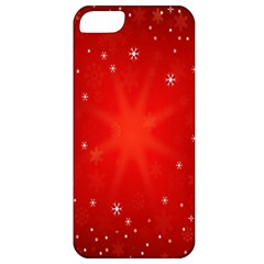 Red Holiday Background Red Abstract With Star Apple iPhone 5 Classic Hardshell Case