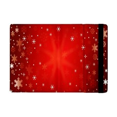 Red Holiday Background Red Abstract With Star Apple iPad Mini Flip Case