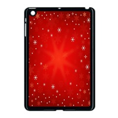 Red Holiday Background Red Abstract With Star Apple Ipad Mini Case (black)