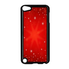 Red Holiday Background Red Abstract With Star Apple Ipod Touch 5 Case (black)
