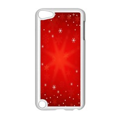 Red Holiday Background Red Abstract With Star Apple Ipod Touch 5 Case (white)