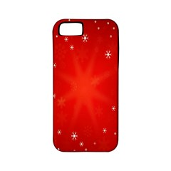 Red Holiday Background Red Abstract With Star Apple iPhone 5 Classic Hardshell Case (PC+Silicone)