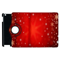 Red Holiday Background Red Abstract With Star Apple Ipad 2 Flip 360 Case