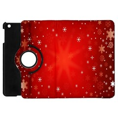 Red Holiday Background Red Abstract With Star Apple iPad Mini Flip 360 Case
