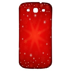 Red Holiday Background Red Abstract With Star Samsung Galaxy S3 S III Classic Hardshell Back Case