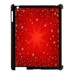 Red Holiday Background Red Abstract With Star Apple Ipad 3/4 Case (black)