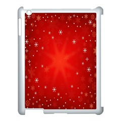 Red Holiday Background Red Abstract With Star Apple iPad 3/4 Case (White)