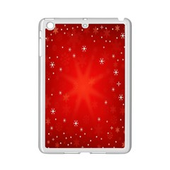 Red Holiday Background Red Abstract With Star Ipad Mini 2 Enamel Coated Cases