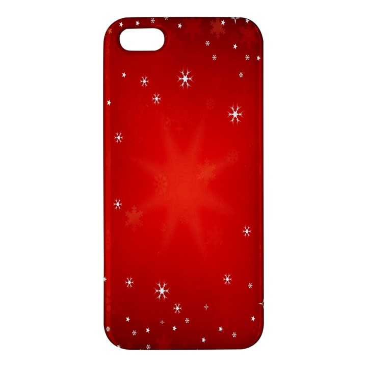 Red Holiday Background Red Abstract With Star Apple iPhone 5 Premium Hardshell Case