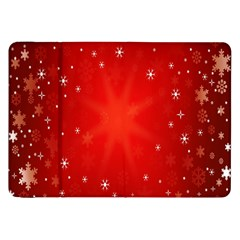Red Holiday Background Red Abstract With Star Samsung Galaxy Tab 8 9  P7300 Flip Case