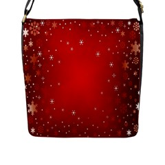 Red Holiday Background Red Abstract With Star Flap Messenger Bag (L)