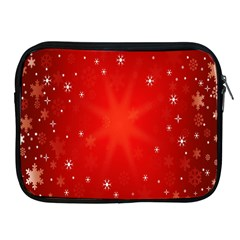 Red Holiday Background Red Abstract With Star Apple iPad 2/3/4 Zipper Cases