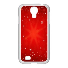 Red Holiday Background Red Abstract With Star Samsung GALAXY S4 I9500/ I9505 Case (White)