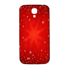Red Holiday Background Red Abstract With Star Samsung Galaxy S4 I9500/i9505  Hardshell Back Case