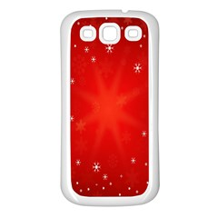 Red Holiday Background Red Abstract With Star Samsung Galaxy S3 Back Case (white)