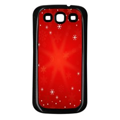 Red Holiday Background Red Abstract With Star Samsung Galaxy S3 Back Case (black)