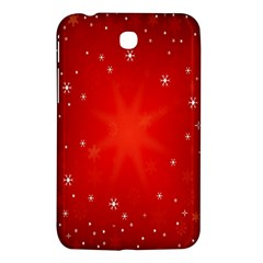 Red Holiday Background Red Abstract With Star Samsung Galaxy Tab 3 (7 ) P3200 Hardshell Case