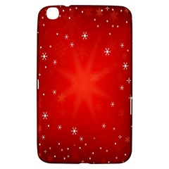 Red Holiday Background Red Abstract With Star Samsung Galaxy Tab 3 (8 ) T3100 Hardshell Case