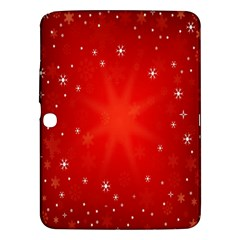 Red Holiday Background Red Abstract With Star Samsung Galaxy Tab 3 (10 1 ) P5200 Hardshell Case