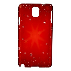 Red Holiday Background Red Abstract With Star Samsung Galaxy Note 3 N9005 Hardshell Case