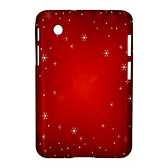 Red Holiday Background Red Abstract With Star Samsung Galaxy Tab 2 (7 ) P3100 Hardshell Case