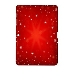 Red Holiday Background Red Abstract With Star Samsung Galaxy Tab 2 (10.1 ) P5100 Hardshell Case