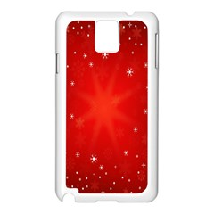 Red Holiday Background Red Abstract With Star Samsung Galaxy Note 3 N9005 Case (white)