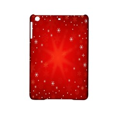 Red Holiday Background Red Abstract With Star iPad Mini 2 Hardshell Cases