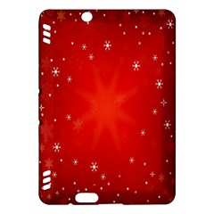 Red Holiday Background Red Abstract With Star Kindle Fire Hdx Hardshell Case