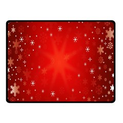 Red Holiday Background Red Abstract With Star Double Sided Fleece Blanket (Small)