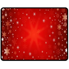 Red Holiday Background Red Abstract With Star Double Sided Fleece Blanket (medium)